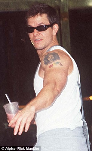 mark wahlberg before with his tattoo